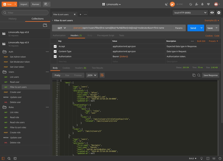 Demo app screen-shot