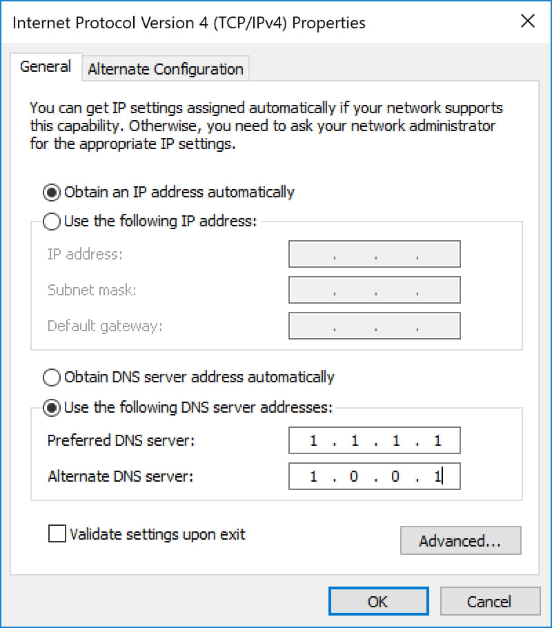 Change-Windows-DNS-servers-to-Cloudflare-1.1.1.1