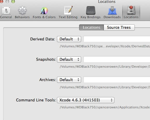select your XCode version