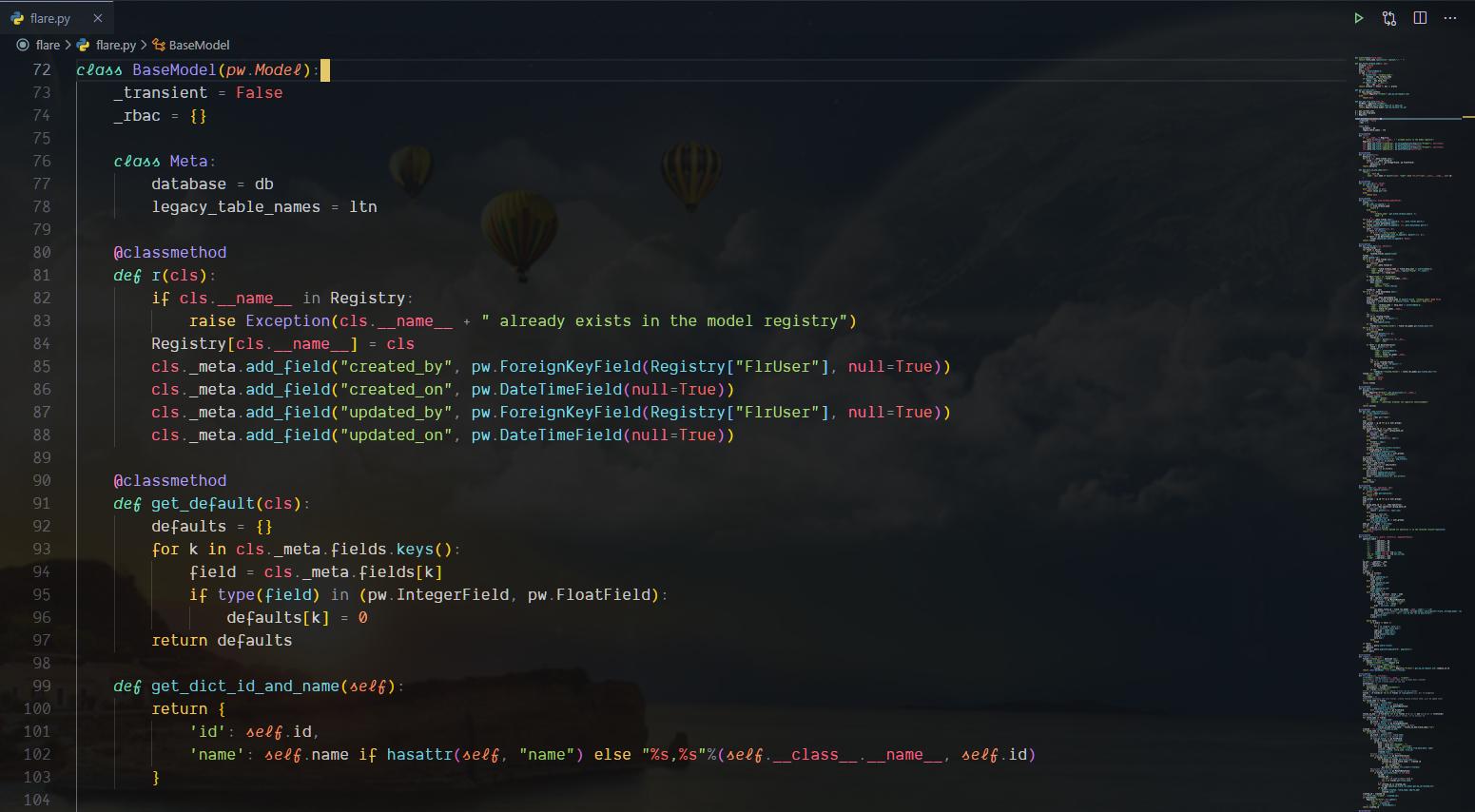 VSCode background