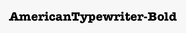 AmericanTypewriter-Bold
