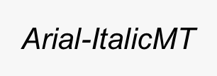 Arial-ItalicMT