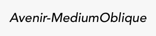 Avenir-MediumOblique
