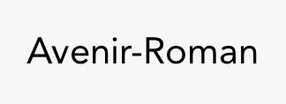 Avenir-Roman