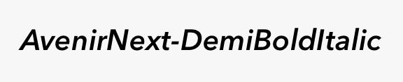 AvenirNext-DemiBoldItalic
