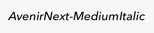 AvenirNext-MediumItalic