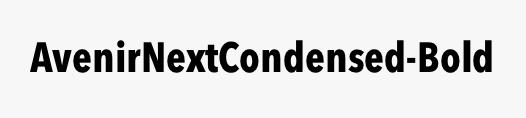 AvenirNextCondensed-Bold