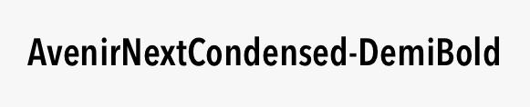 AvenirNextCondensed-DemiBold