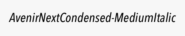 AvenirNextCondensed-MediumItalic