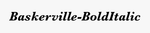 Baskerville-BoldItalic