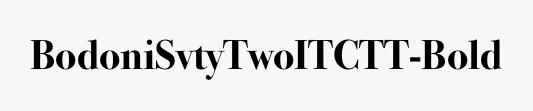BodoniSvtyTwoITCTT-Bold
