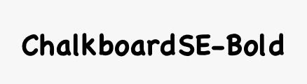 ChalkboardSE-Bold