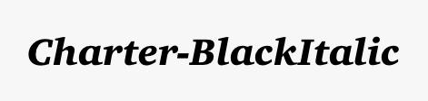 Charter-BlackItalic
