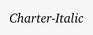 Charter-Italic