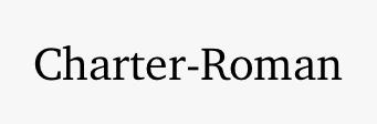 Charter-Roman