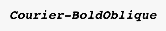 Courier-BoldOblique