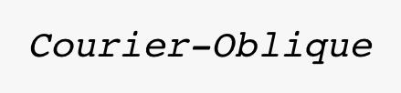 Courier-Oblique