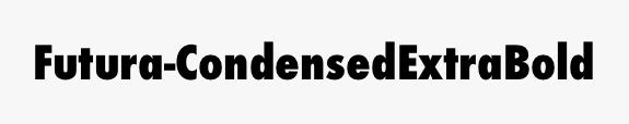 Futura-CondensedExtraBold