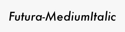Futura-MediumItalic