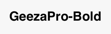 GeezaPro-Bold
