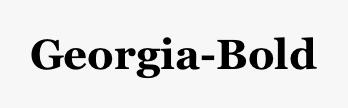 Georgia-Bold