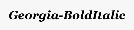 Georgia-BoldItalic