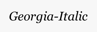 Georgia-Italic