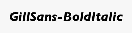 GillSans-BoldItalic