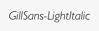 GillSans-LightItalic