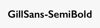 GillSans-SemiBold