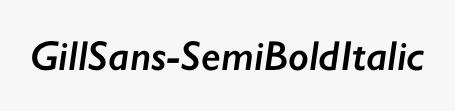 GillSans-SemiBoldItalic