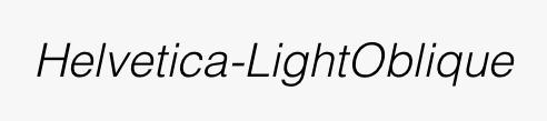 Helvetica-LightOblique