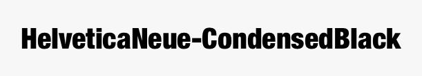 HelveticaNeue-CondensedBlack