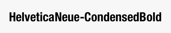 HelveticaNeue-CondensedBold