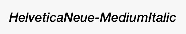 HelveticaNeue-MediumItalic