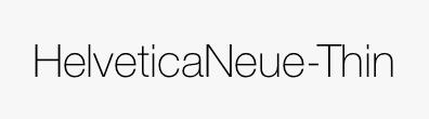 HelveticaNeue-Thin