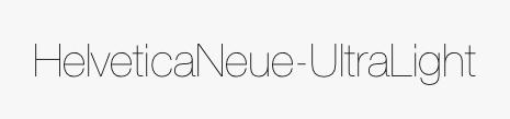 HelveticaNeue-UltraLight