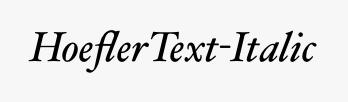 HoeflerText-Italic