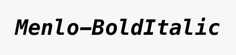 Menlo-BoldItalic