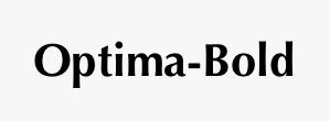 Optima-Bold