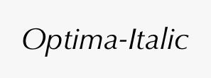 Optima-Italic