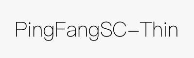 PingFangSC-Thin
