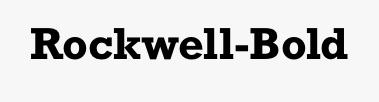 Rockwell-Bold