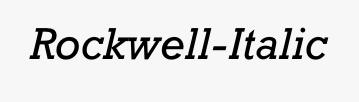 Rockwell-Italic