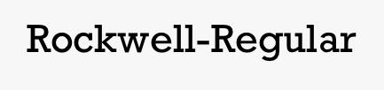 Rockwell-Regular