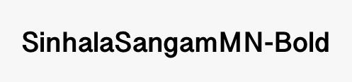 SinhalaSangamMN-Bold