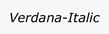 Verdana-Italic