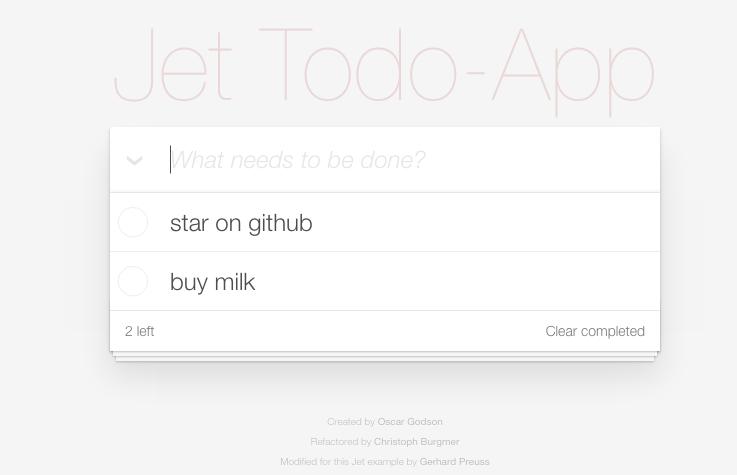 Jet Todo-App