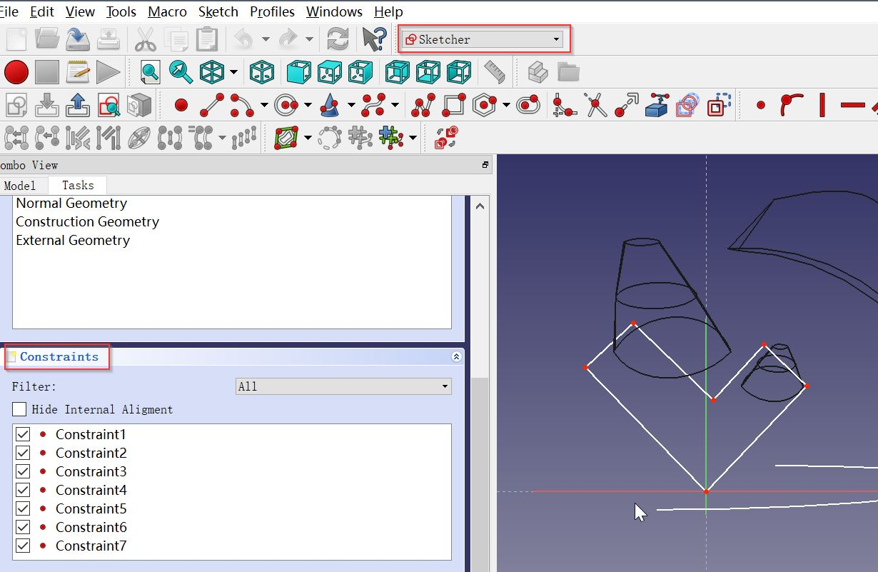 Freecad Triangle