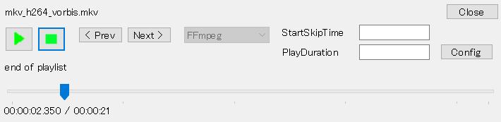 Player window